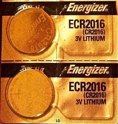Energizer ECR2016 CR2016 BR2016 Lithium3V Battery (2piece) New Authorized Seller