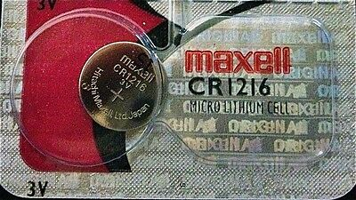 CR 1216 MAXELL LITHIUM BATTERIES (1 piece) 3V watch New Authorized Seller