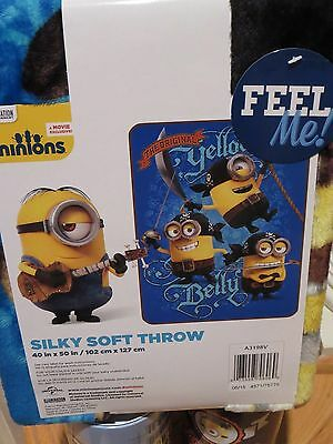 Despicable Me Minions Pirates Throw Blanket Silky Soft NEW