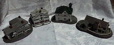 Norman Rockwell Small Town Houses (Lot of 4)