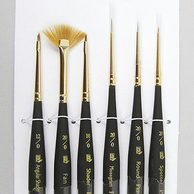 Princeton Micro Detail Paint Brushes 6 Set Synthetic Acrylic Oil Painting