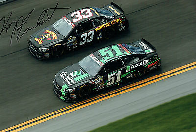 Kerry EARNHARDT SIGNED NASCAR Driver RARE Autograph 12x8 Photo AFTAL COA