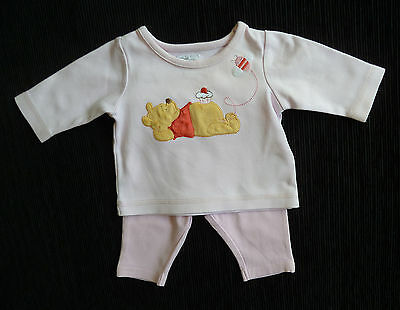 Baby clothes GIRL newborn 0-1m Disney Pooh Bear pink outfit long sleeve+leggings