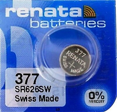 377 RENATA SR626SW SR626W WATCH BATTERIES New packaging Authorized Seller