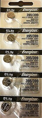 ENERGIZER 395/399 WATCH BATTERIES SR927SW (5 Piece) Sealed Authorized Seller