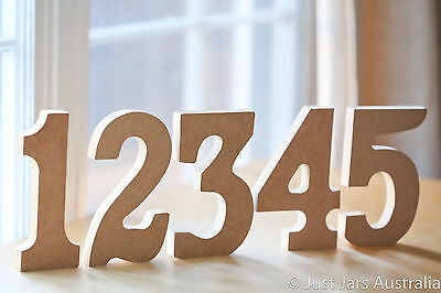 Freestanding wooden table numbers - 15cm tall - Wedding table decor