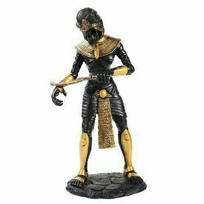 Ancient Egyptian Decor Black & Gold Mummy King Tut Sarcophagus Statue Figurine