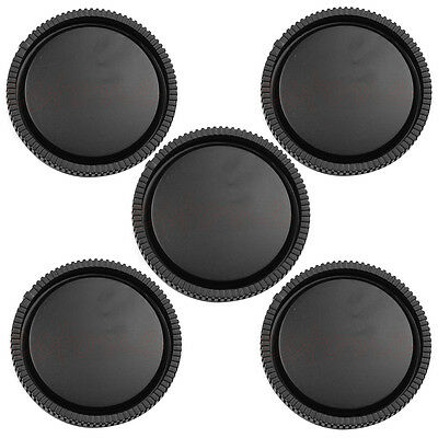 Rear Lens Cap Camera Body Cover for Sony E-Mount NEX-3 NEX-5 Black 5Pcs