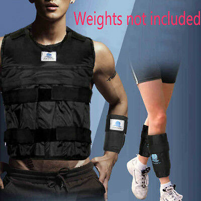 Zooboo 44LBS/20KG Weighted Vest+Leg Ankle Hand Wrist Weights Exercise NO WEIGHT