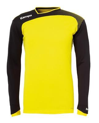 Kempa Emotion Langarmshirt Handball Herren Training Shirt gelb/schwarz