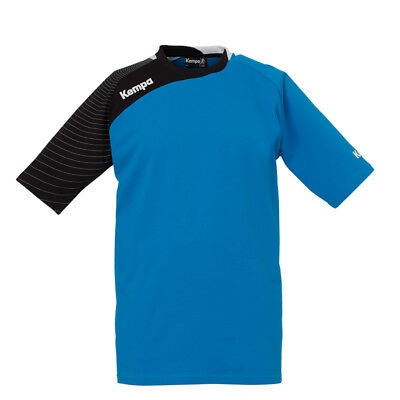 Kempa Circle Trainings T-Shirt Handball Herren Trikot blau/schwarz