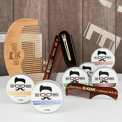 Beard Comb & Moustache Wax Styling Kit | Pocket Friendly | 3 Combs + 8 Scents