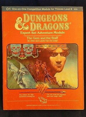 D&D 1983 O1 THE GEM AND THE STAFF TSR 9050 Dungeons Dragons One-on-One Complete!
