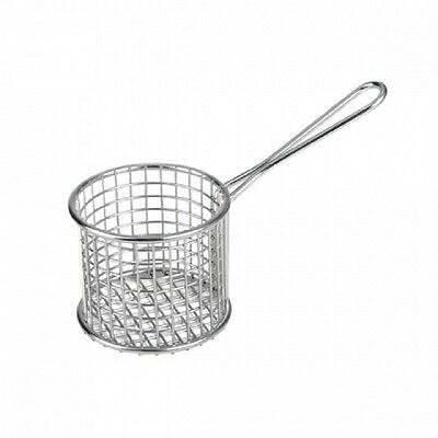 Mini Deep Fryer Service Basket - Round for serving chips seafood 74128