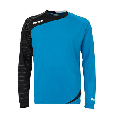 Kempa Circle Langarm Shirt Handball Herren Training Top blau/schwarz