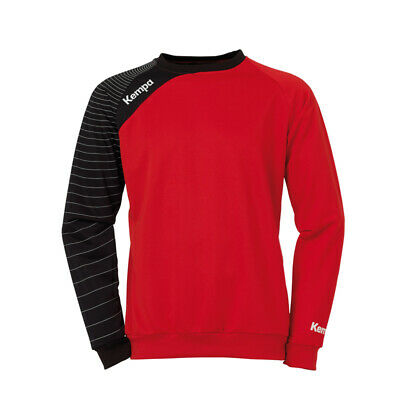 Kempa Circle Training Top Handball Herren Langarm Shirt rot/schwarz