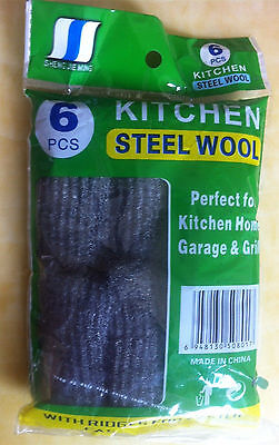 1Pack/6roll grinding polishing steel wool 0 #, 1 roll/6 grams Good Quility!