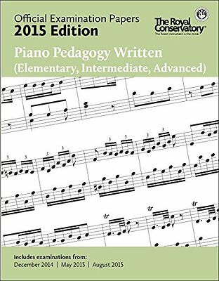 2015 RCM Exam Papers Piano Pedagogy Written