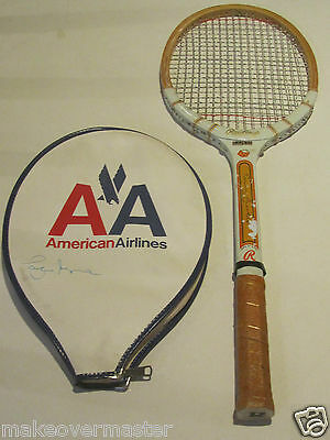 VTG Brian Fairlie Signature Tennis Racket American Airlines Cover Pancho Segura
