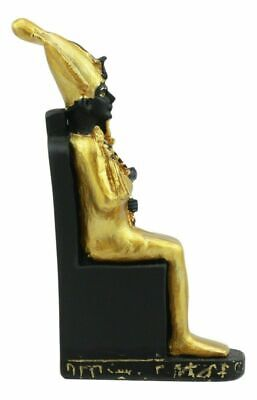 "Ancient Egyptian Decor Miniature 3""H Seated Osiris on Throne Figurine Collection"
