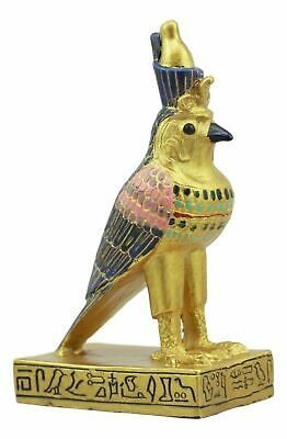 "Ancient Egyptian Decor Miniature 3""H Falcon Bird God Horus Figurine Collection"