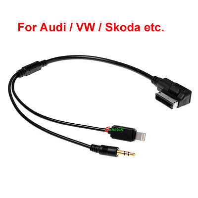 Audi VW iPod iPhone 5 6 Car Cable AUX AMI MMI MDI Audio Interface Lead Connector
