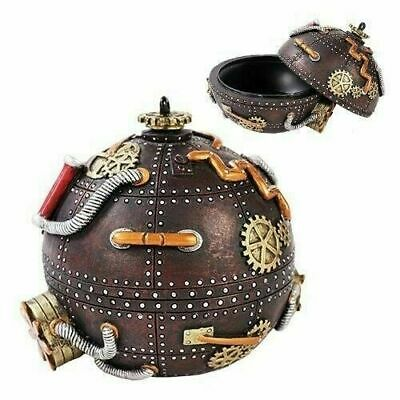 Steampunk Time Bomb Spherical Capsule Jewelry Box Container Collectible Statue