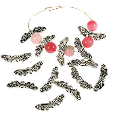 20pcs Tibetan Silver butterfly wing spacer Beads Findings jewelry making 22*8mm