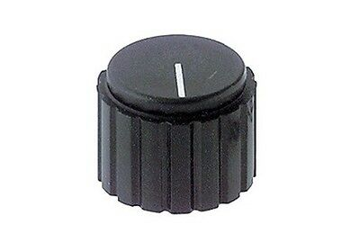 Manopola per potenziometro asse 6mm in pvc nero a vite diametro 20mm  8029