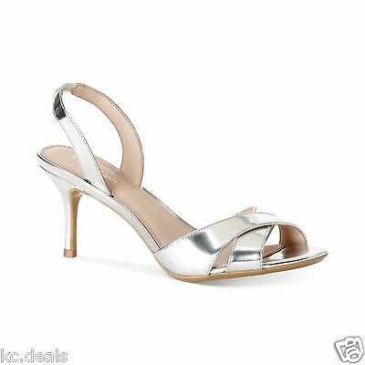 bf6fed58302 CALVIN KLEIN Women Lucette Patent Dusty Pink Slingback Sandals Shoes ...