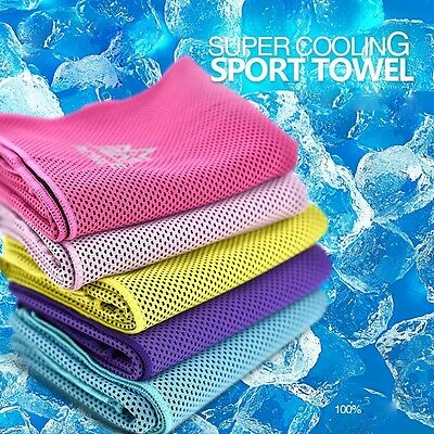 New Sport Enduring Instant Cool Feeling Fabrics Towel Heat Relief Reusable Chill