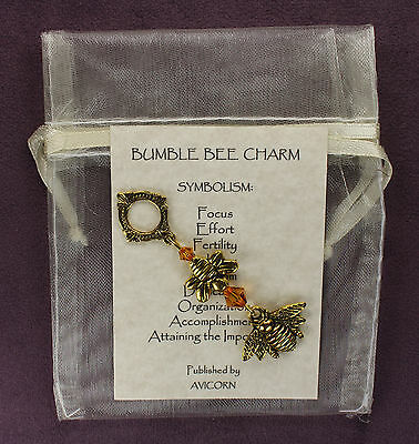 BUMBLE BEE TOTEM CHARM Amulet Talisman Animal Magick Symbol Sign Lucky Insect
