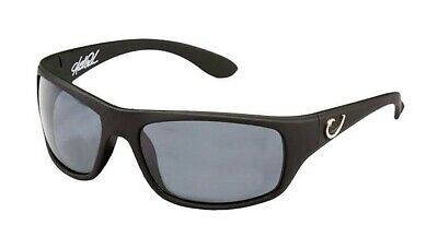 Mustad Hank Parker Polarized Sunglasses-Black Frame with Smoke Lens-HP100A-2