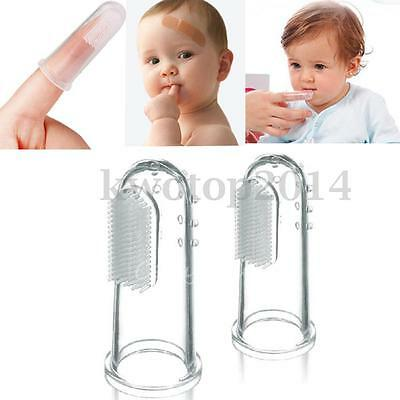1/2/5Pcs Kids Baby Infant Soft Silicone Finger Toothbrush Teeth Massager Brush