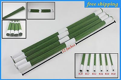 - 250g Green Lacquered Florists Stub Wire 10 25cm Floralcraft 18swg 1.25mm