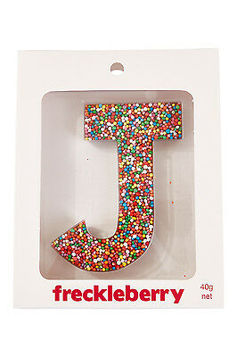 NEW Freckleberry Gifts Choc Freckle Letter J