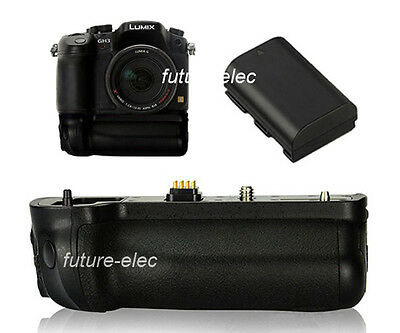Vertical Battery Hand Grip Holder For Panasonic DMC-GH4 GH3 as BGGH3+ DMW-BLF19E