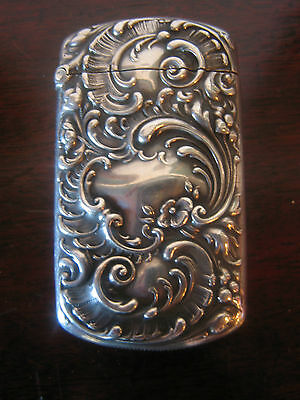 Antique American Black Starr and Frost Sterling Silver Match Safe