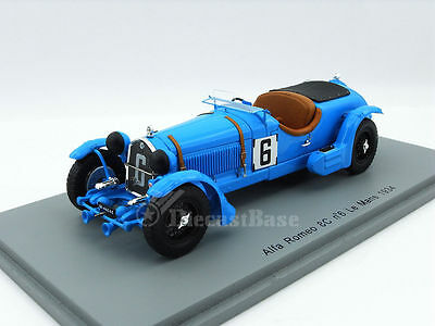 Spark S3887 1/43 Alfa Romeo 8C 2300LM 24 Hours of Le Mans 1934 LM Resin Race Car