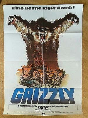 GRIZZLY rare German 1 sheet 1976 WILLIAM GIRDLER Christopher George HORROR