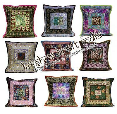 25pc Indian Embroidered Sequin USA Pillow Cases Cushion Covers Wholesale Lot