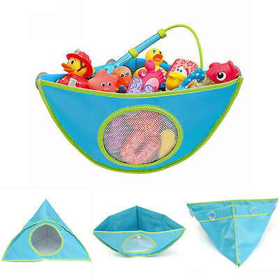 Kids Baby Bath Time Tidy Toy Storage Suckers Cup Triangle Bag Organizer Holder