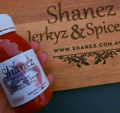Sale!90ml Shanez Death by Fire Sauce Chilli Carolina Reaper (Hot Sauce) Pepper