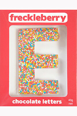 NEW Freckleberry Gifts Choc Freckle Letter E