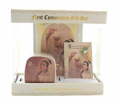 Sangre de Cristo First Communion Gift Sets - Gift Boxed GIRL (WS097)