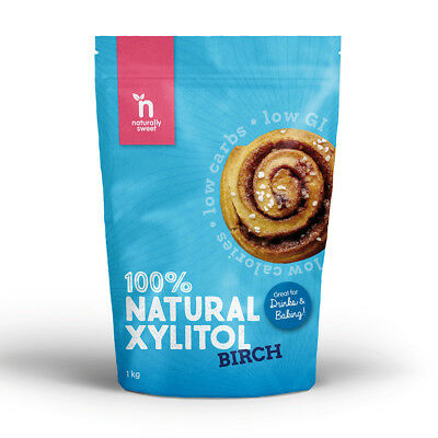 Naturally Sweet Xylitol Birch 1kg - 100% Natural Sweetener