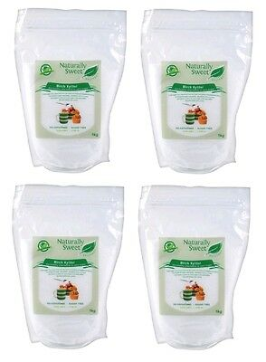 Naturally Sweet Xylitol Birch 4kg (4 x 1kg) - 100% Natural Sweetener