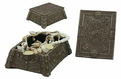 Mexica Aztec Maya Solar Sun Mesoamerican Jewelry Box Container Statue Collection