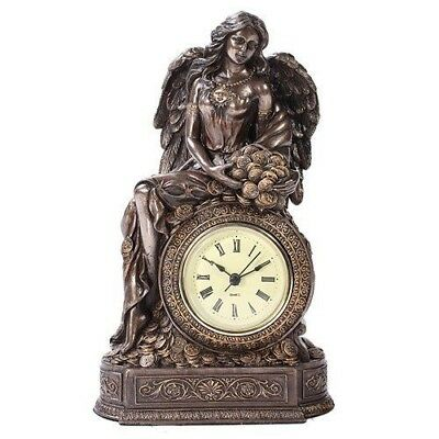 Greek Mythology Goddess of Luck & Wealth Lady Fortuna Table Clock Collectible