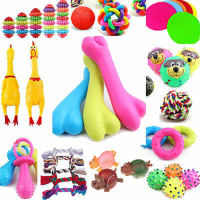Pet G Chew Toys Dog Puppy Squeaky Squeaker Sound Toy Teeth Gun Rubber Bone Play